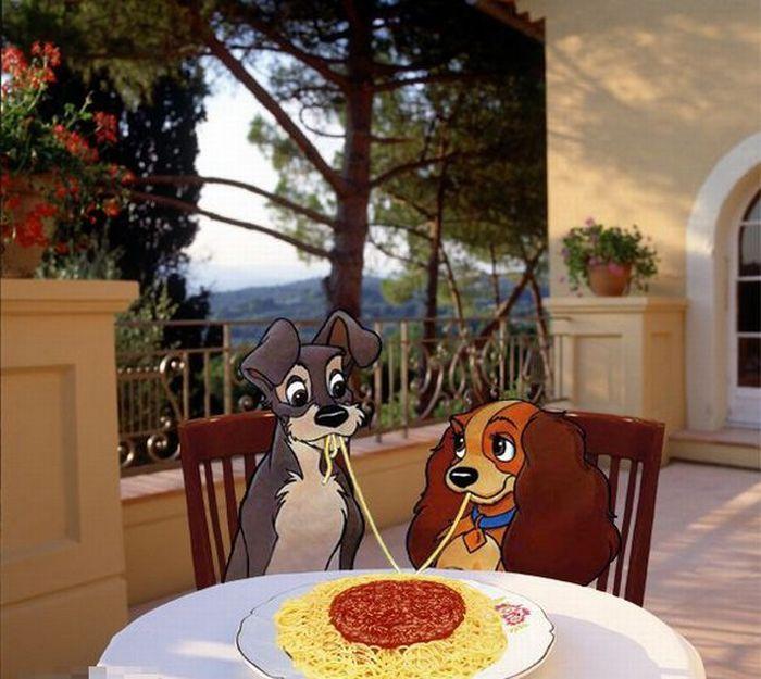 gambar kartun binatang lucu romantis