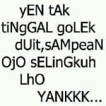 Gambar Kata Kata cinta Lucu Bahasa Jawa