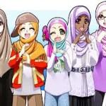 foto kartun muslimah comel lucu