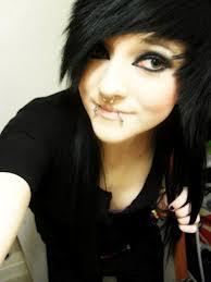 gambar emo girl hair style