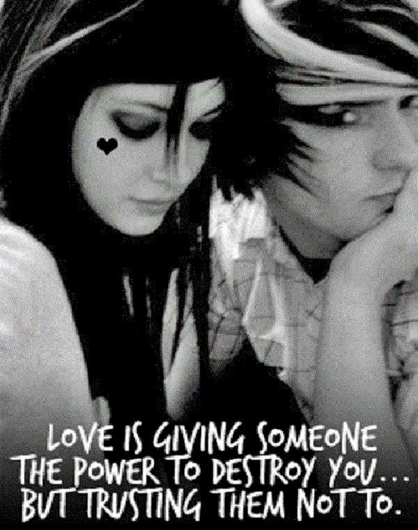 gambar emo love