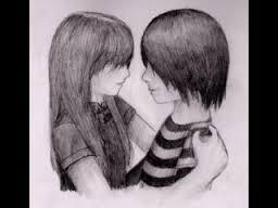 gambar karikatur emo love
