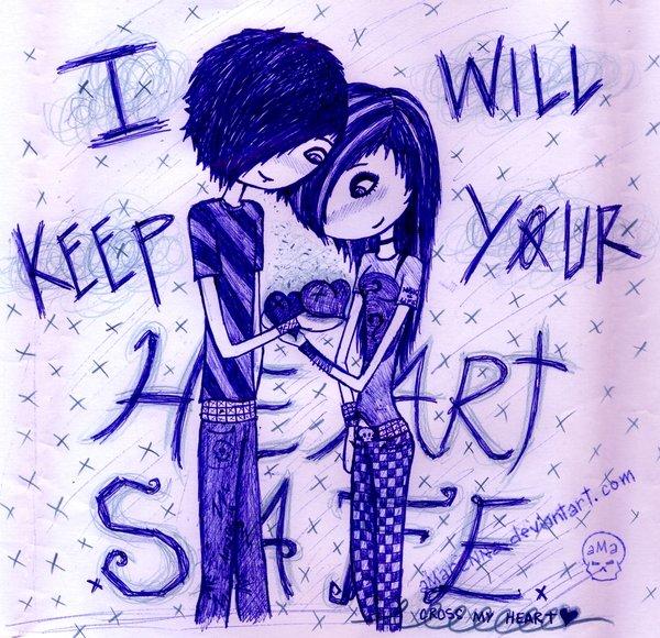 Wallpaper Kartun Emo Love : Gambar Emo Style Love Lucu Sedih GambarGambar.co