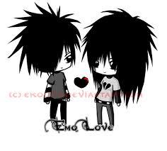 gambar kartun emo love