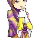 gambar kartun muslimah comel manis