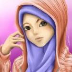 gambar kartun muslimah lucu berjilbab
