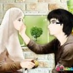 gambar kartun muslimah lucu dan romantis
