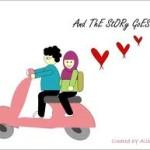 gambar kartun muslimah lucu romantis banget