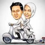 gambar kartun muslimah pasangan romantis