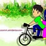 gambar kartun muslimah romantis berpasangan