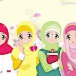 gambar kartun sahabat muslimah comel