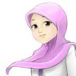 gambar kartun wanita muslimah lucu banget