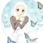 gambar kartun wanita muslimah sejati