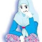 gambar kartun wanita muslimah sejati cantik