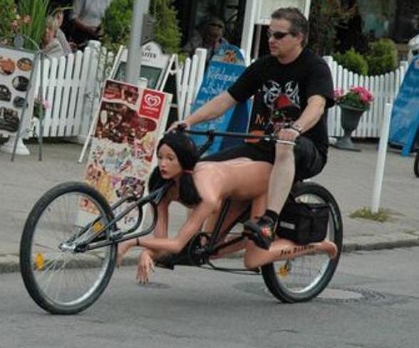 gambar sepeda unik lucu