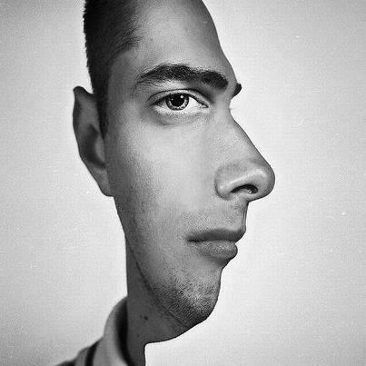gambar unik lucu muka dua