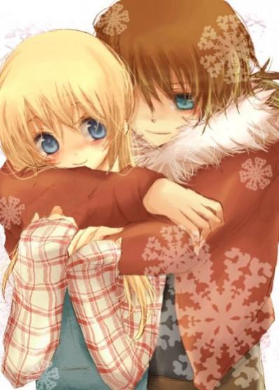 gambar kartun romantis pelukan