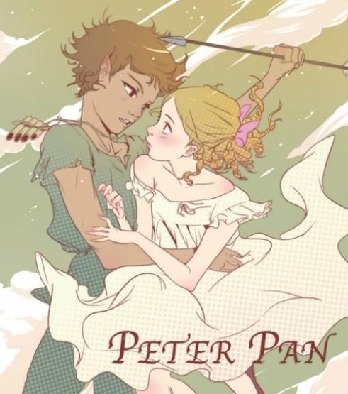 gambar kartun romantis peterpan