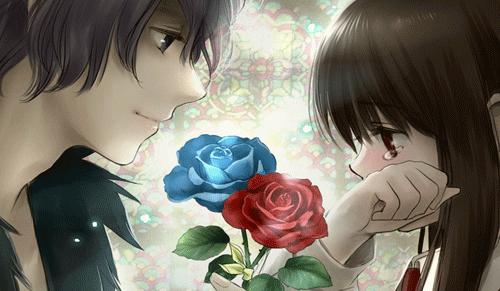 gambar kartun sedih romantis