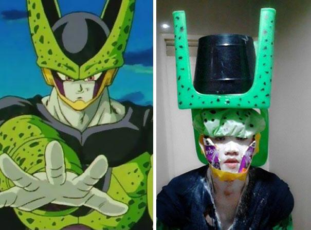 foto cosplay dragon ball karakter cell lucu