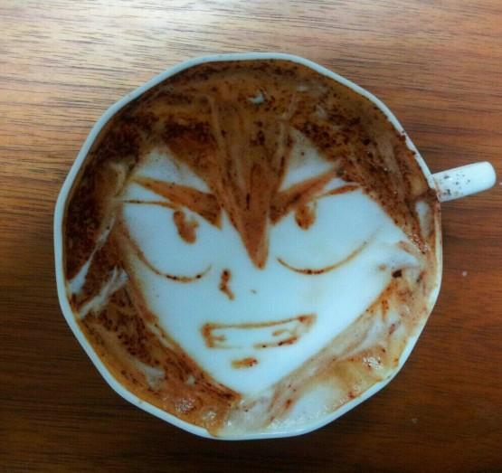 gambar kartun yang unik dan lucu pada kopi