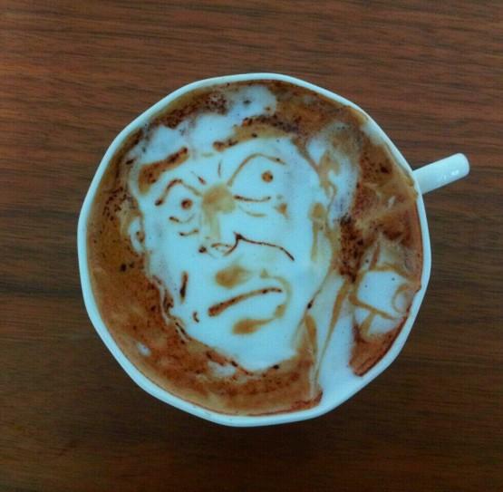 gambar lucu dan unik seni 3d latte