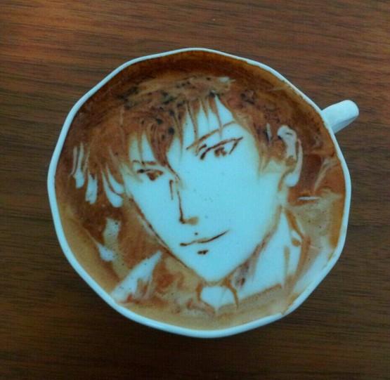 gambar unik dan lucu seni kopi