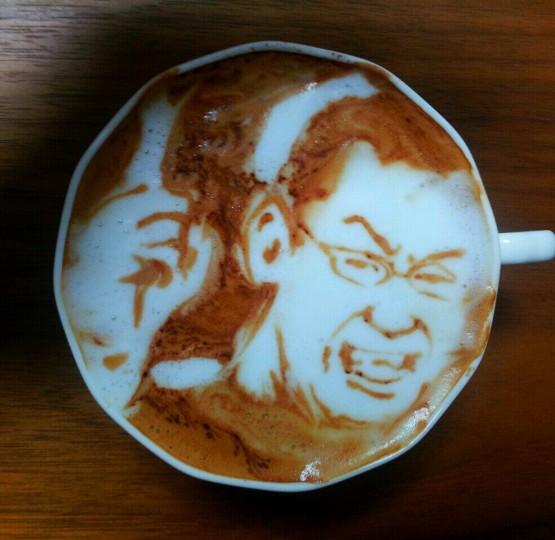 gambari unik dan lucu 3d latte