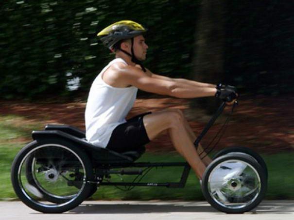 gambar sepeda dengan tangan yang unik