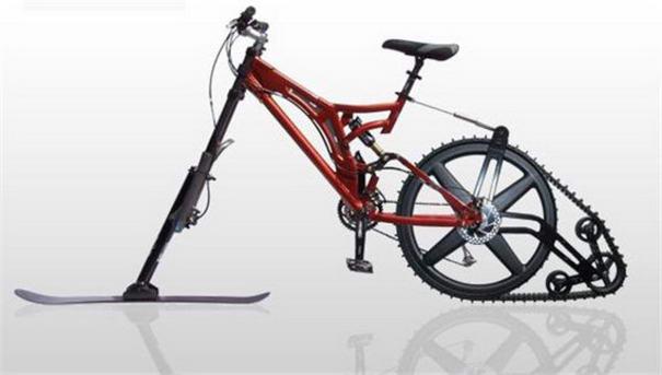 gambar sepeda ski yang unik
