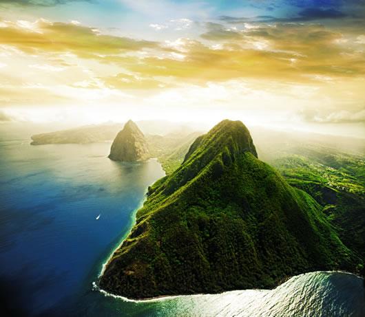 St.-Lucia Gambar Pemandangan ALam Terindah di Dunia