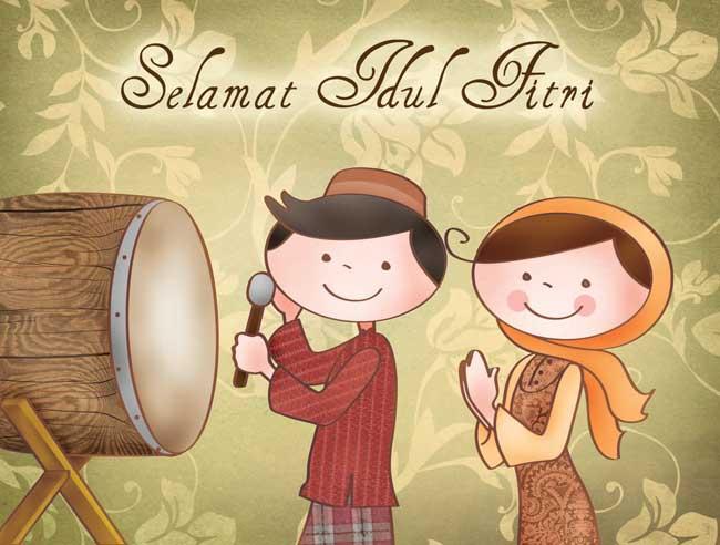 DP BBM Kartun Selamat Idul Fitri 1435