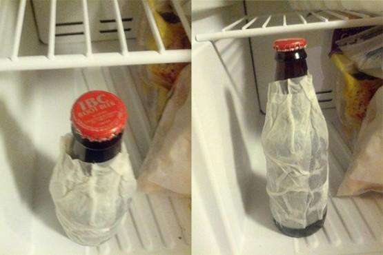 cara cepat mendinginkan minuman