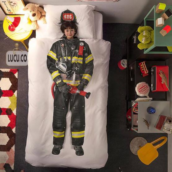 gambar unik kasur pemadam kebakaran