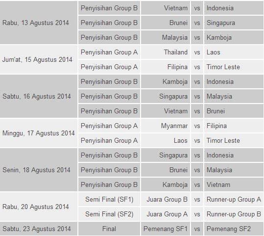 Jadwal Piala Hassanal Bolkiah 2014