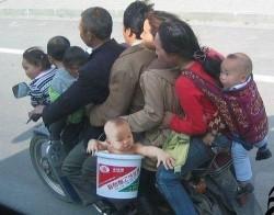 Gambar Lucu Orang Tua Dan Anak Naik Sepeda Motor