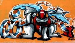 gambar graffiti 3d abstrak