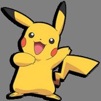 gambar pokemon bergerak pikachu