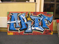 gambar unik graffiti 3d