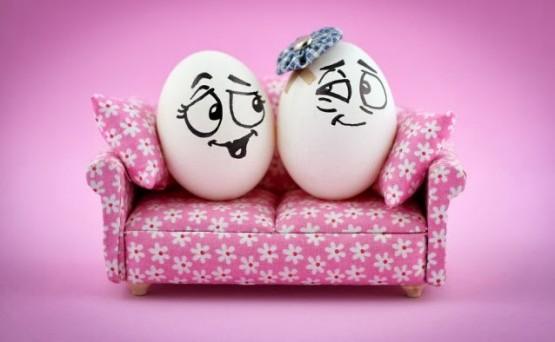 ekspresi telur gembira