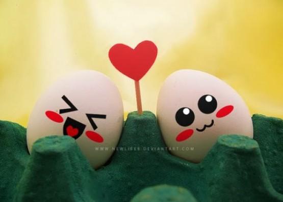 ekspresi telur menggemaskan