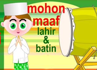 6 gambar lucu ucapan selamat hari raya Idul Fitri terbaru 3