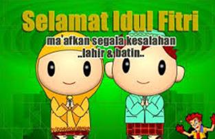6 gambar lucu ucapan selamat hari raya Idul Fitri terbaru 4