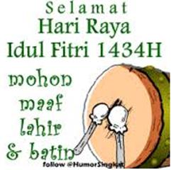 6 gambar lucu ucapan selamat hari raya Idul Fitri terbaru 5