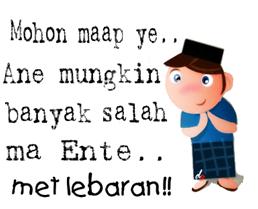 6 gambar lucu ucapan selamat hari raya Idul Fitri terbaru 6