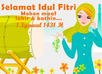 6 gambar lucu ucapan selamat hari raya Idul Fitri terbaru