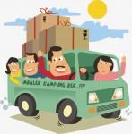 Gambar Animasi Lucu Mudik Pulang Kampung