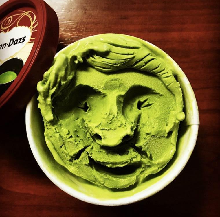 Unik, Es Krim Ini Berbentuk Seperti Wajah Manusia