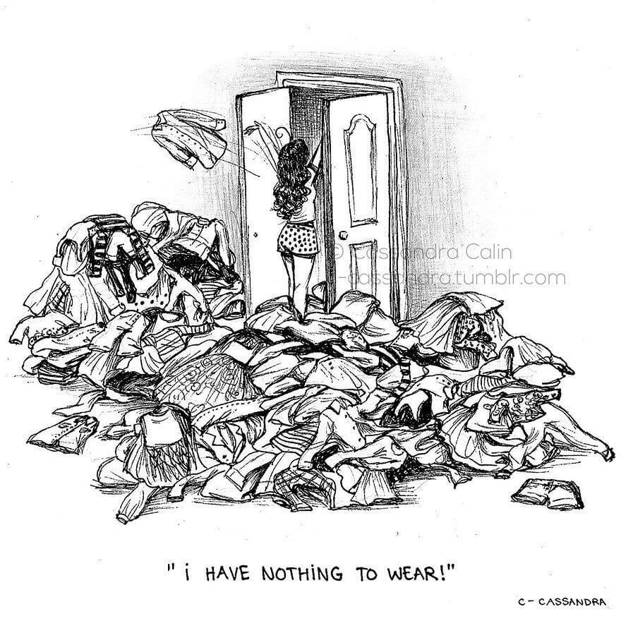 Lucunya, Ilustrasi Ini Menggambarkan Masalah Sehari-Hari Cewek yang Iya Banget