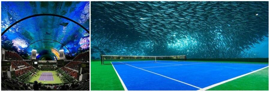 Keren, Ini Dia Lapangan Tenis Bawah Laut Pertama di Dunia!